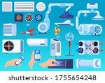 air conditioner ventilation... | Shutterstock .eps vector #1755654248