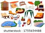garden furniture vector...   Shutterstock .eps vector #1755654488