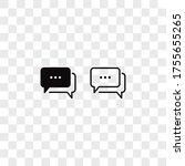speech bubble icon vector. chat ...