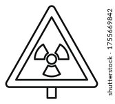 danger zone caution icon.... | Shutterstock .eps vector #1755669842