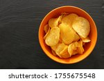 Top View Image Of Potato Chips...