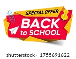 back to school. special offer... | Shutterstock .eps vector #1755691622