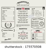 restaurant menu template.... | Shutterstock .eps vector #175570508