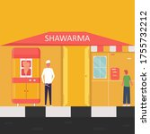 characters design shawarma... | Shutterstock .eps vector #1755732212