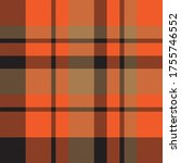 orange plaid  checkered  tartan ... | Shutterstock .eps vector #1755746552