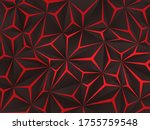 abstract black polygon red... | Shutterstock .eps vector #1755759548