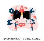 webpage template. concept of... | Shutterstock .eps vector #1755766262