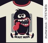 monster graphic design for t... | Shutterstock .eps vector #175576856