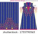 salwar kameez artwork for ready ... | Shutterstock .eps vector #1755790565