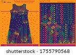 salwar kameez artwork for ready ... | Shutterstock .eps vector #1755790568
