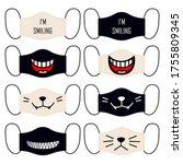 set of designs of reusable... | Shutterstock .eps vector #1755809345