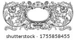 vintage baroque floral frame... | Shutterstock .eps vector #1755858455