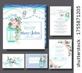 wedding invitations card with... | Shutterstock .eps vector #1755871205
