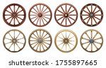 Wheel Of West Wild Isolated...