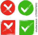 tick and cross sign elements.... | Shutterstock .eps vector #1755907892