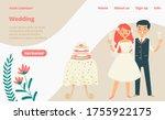 wedding celebration landing web ... | Shutterstock .eps vector #1755922175