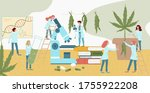tiny character lab medicines... | Shutterstock .eps vector #1755922208
