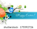grungy easter background with... | Shutterstock .eps vector #175592726