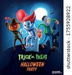 horror cartoon characters for... | Shutterstock .eps vector #1755928922