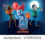 horror cartoon characters for... | Shutterstock .eps vector #1755929222
