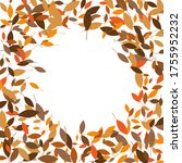 leaves. throw autumn leaves.... | Shutterstock .eps vector #1755952232