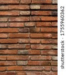 brown brick close up texture... | Shutterstock . vector #1755960362