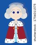 cute cartoon isolated vector...   Shutterstock .eps vector #1756011575