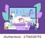 bilogical genetic engineering... | Shutterstock .eps vector #1756028792