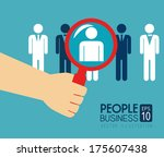 people design  over  blue... | Shutterstock .eps vector #175607438