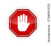 red traffic road sign isolated | Shutterstock .eps vector #1756091525