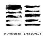 vector grungy paint brush...   Shutterstock .eps vector #1756109675