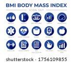 blue bmi body mass index round...   Shutterstock .eps vector #1756109855