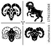 aries. horoscope. zodiac sign.... | Shutterstock .eps vector #1756113068