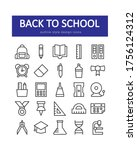 back to school icon set....