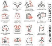 vector set of linear icons... | Shutterstock .eps vector #1756139078