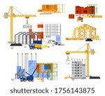 construction site building set. ... | Shutterstock .eps vector #1756143875