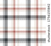 plaid pattern in grey  coral ...   Shutterstock .eps vector #1756155842