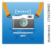 world photography day.... | Shutterstock .eps vector #1756158482