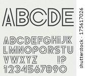 vector alphabet letters ... | Shutterstock .eps vector #175617026