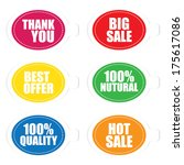 thank you  best offer  100... | Shutterstock .eps vector #175617086