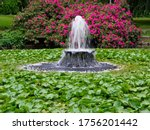 Pond With Fountain  Covered...