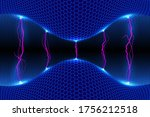 abstract energy formation.... | Shutterstock .eps vector #1756212518