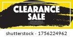 clearance sale banner vector...   Shutterstock .eps vector #1756224962