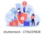 money insurance concept. people ... | Shutterstock .eps vector #1756229828
