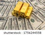 Gold Bullion And 100 Us Money...
