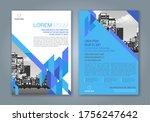 abstract minimal geometric... | Shutterstock .eps vector #1756247642