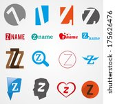 set of alphabet symbols of... | Shutterstock .eps vector #175626476