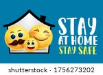 stay at home family vector...   Shutterstock .eps vector #1756273202