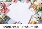 Mocup Of Euro Banknotes....