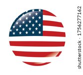 usa flag button design  united... | Shutterstock .eps vector #1756277162